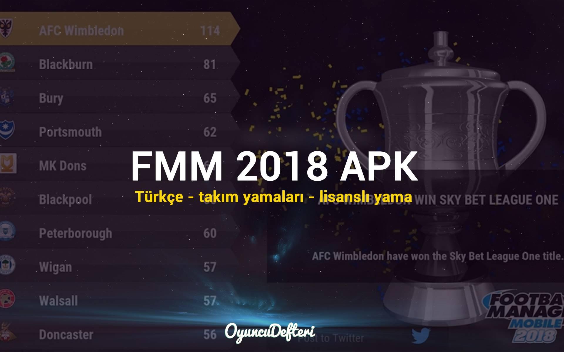 FMM 2018 APK - Türkçe - Lisanslı Yama » Oyuncu Defteri