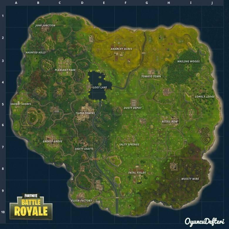 Fortnite yeni harita güncellemesi