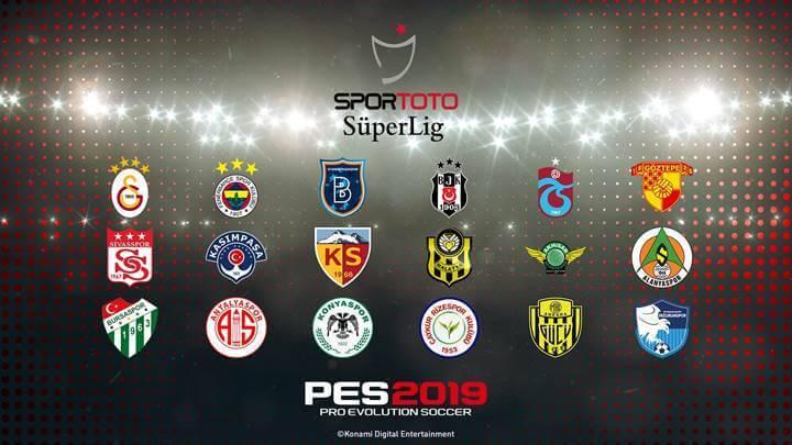 PES 2019 STSL lisansı takımlar