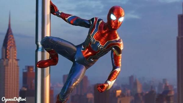 PS4 Spider-Man Kostümler Örümcek adam demir kostüm